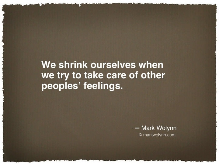 We shrink ourselves…