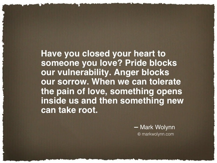 Have you closed your heart to someone?