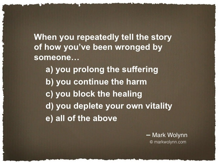 Repeatedly telling your story…