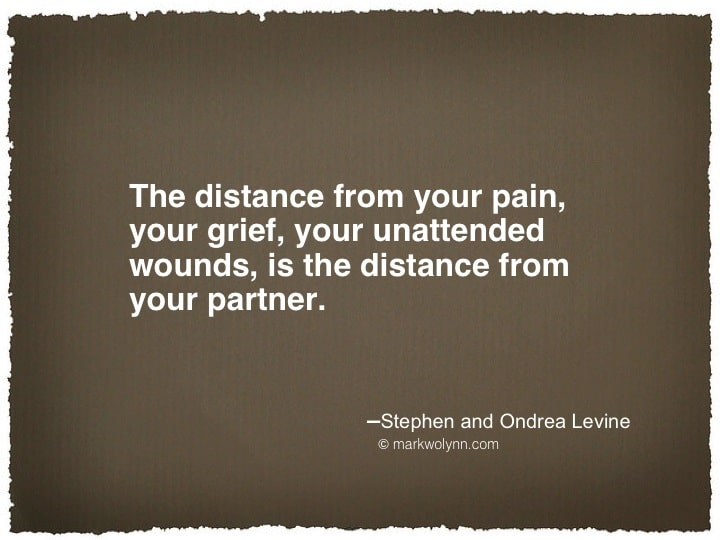 The distance from your pain…