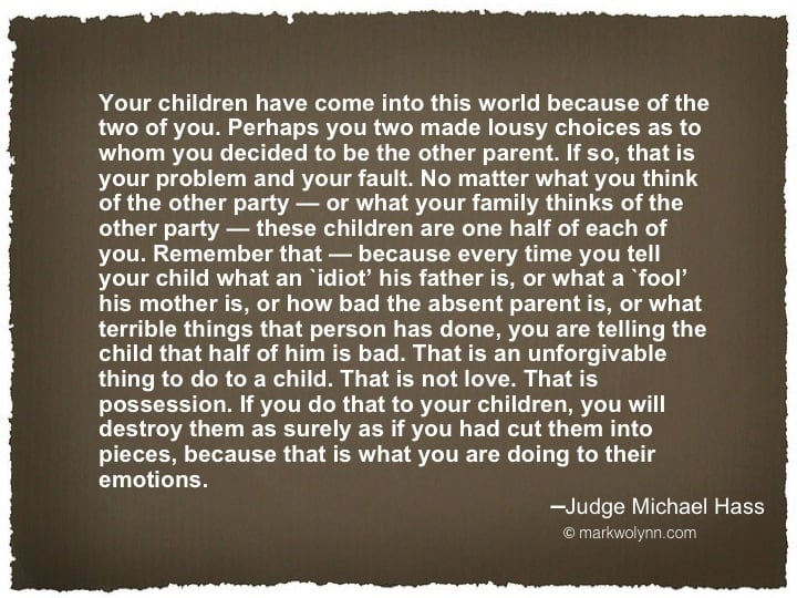 Your children have come into the world…