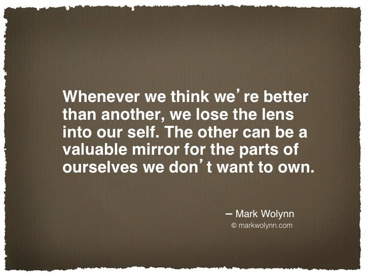 Whenever we think we're better…