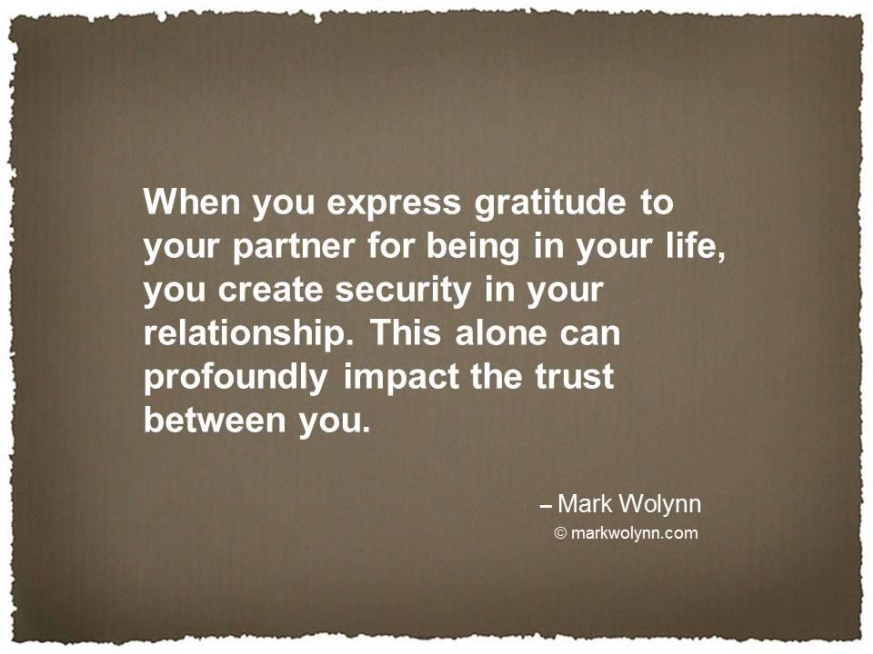 When you express gratitude to your partner…