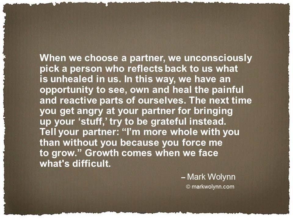 When we choose a partner…