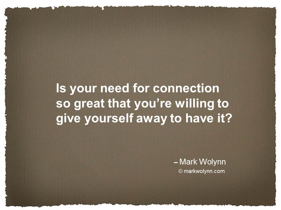 Is your need for connection