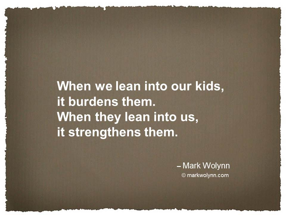 When we lean into our kids