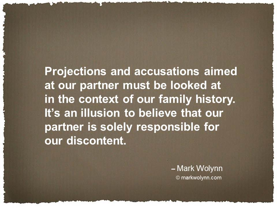 Projections and accusations