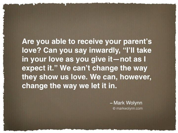 Receive Parents' Love
