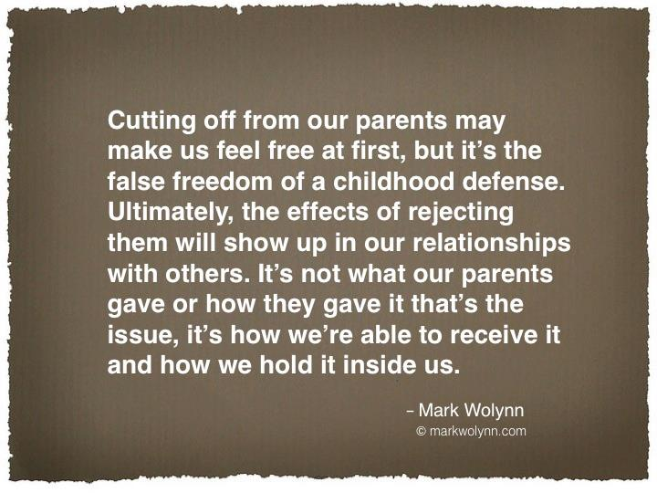 Cutting off from our parents