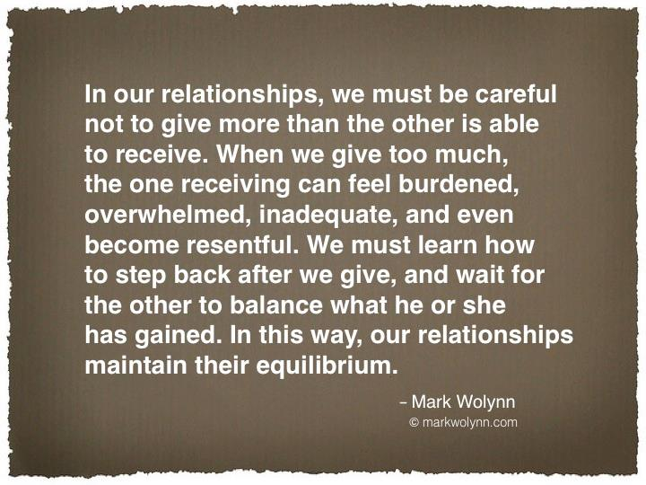 In our relationships, we must be careful