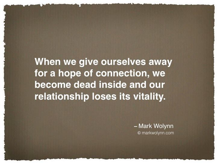 When we give ourselves away